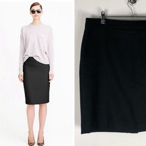 J. Crew No. 2 Pencil Skirt  Wool Black